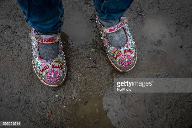 IDOMENI GREECE March 9 2016After a full day of rain Idomeni camp on the Greek side of the Macedonia border has become muddy and wet The Balkan Route...