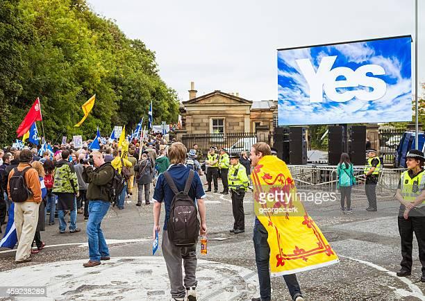 März und Rally für schottische Unabhängigkeit