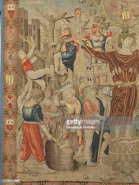 March by Benedetto da Milano upon drawing by Bramantino c 15031508 16th Century tapestry Italy Lombardy Milan Sforza Castle Detail Allegory of the...