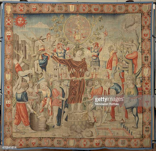 March by Benedetto da Milano upon drawing by Bramantino c 15031508 16th Century tapestry Italy Lombardy Milan Sforza Castle Whole artwork view...