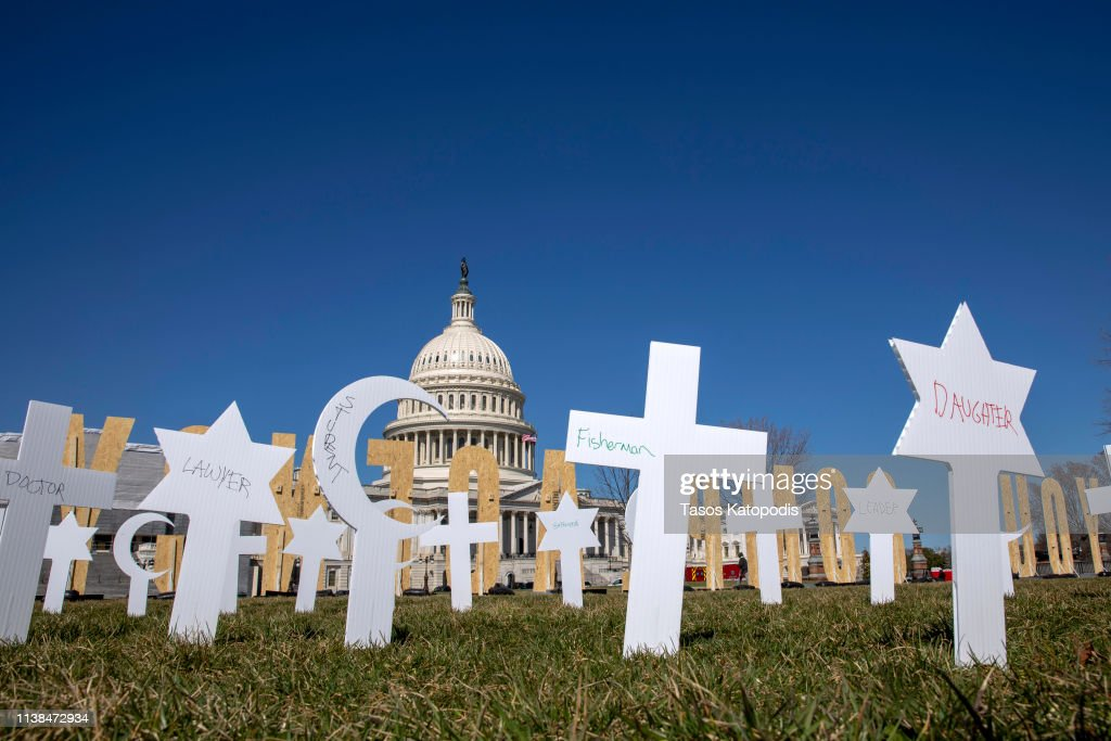DC: March For Our Lives Students Place Gun Violence Prevention Art Installation On Capitol Grounds