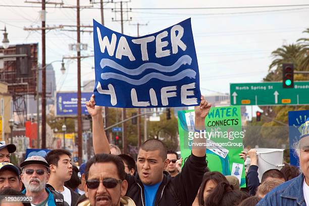March for Water World Water Day 2009 in downtown Los Angeles March 22 2009 A community march highlighting the local state water crisis that has...
