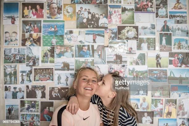 March Kostyuk with a sister at her training facility in Kiev Ukraine on February 2018 Marta Kostyuk is a Ukrainian tennis player In 2018 Kostyuk...