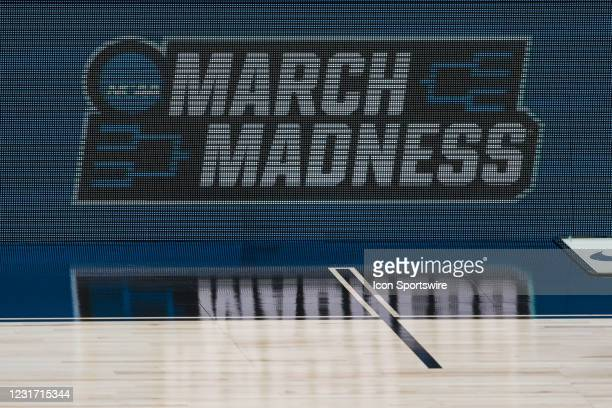 March Madness sign during the men's Big Ten tournament college basketball game between the Michigan Wolverines and Ohio State Buckeyes on March 13 at...