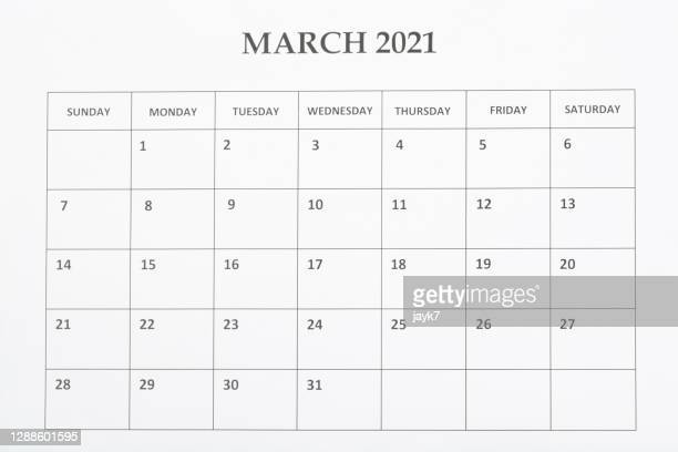 march month calendar - 三月 ストックフォトと画像