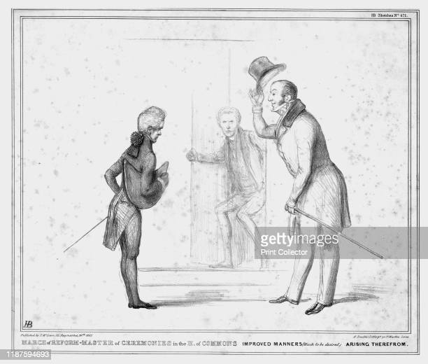 March of Reform Master of Ceremonies in the H of Commons Improved Manners Arising Therefrom' 1837 Scene at the Palace of Westminster in London Mr...