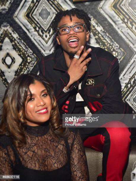 Marche Butler and Metro Boomin attend the BMI Holiday Party at O2 Lounge on December 14 2017 in Atlanta Georgia