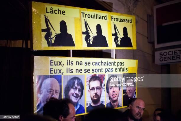 Marche républicaine pour rendre hommage aux victimes des attentats contre Charlie Hebdo et de l'épicerie cacher de Vincennes le 11 janvier 2015 Paris...