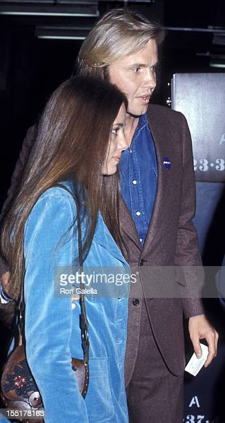 Marcheline Bertrand and actor Jon Voight attend Stars For McGovern Benefit Fundraiser on June 14 1972 at Madison Square Garden in New York City