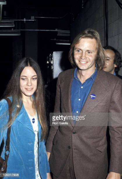 Marcheline Bertrand and Jon Voight during 'Stars for McGovern' Benefit Fundraiser at Madison Square Garden in New York City New York United States