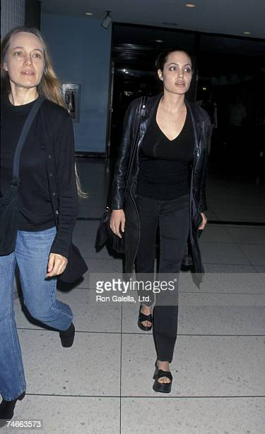 Marcheline Bertrand with daughter Angelina Jolie in Los Angeles California