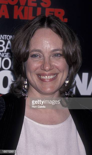 Marcheline Betrand attends the world premiere of Original Sin on July 31 2001 at the Director's Guild Theater in Hollywood California