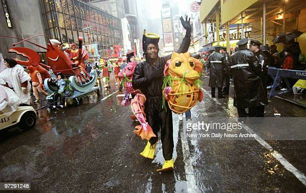 Marcher is well dressed for the weather at the 72nd annual Macy's Thanksgiving Day Parade