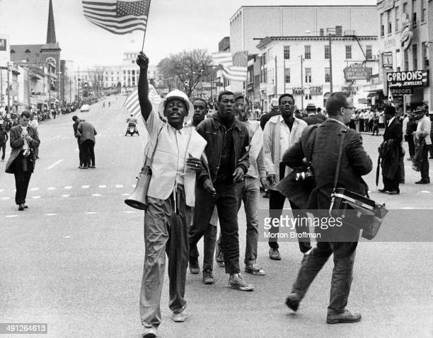 Marchers arrive in Montgomery at the culmination of the Selma to Montgomery March March 1965