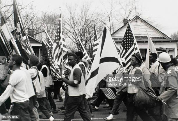 Marchers at the culmination of the Selma to Montgomery March 25th March 1965