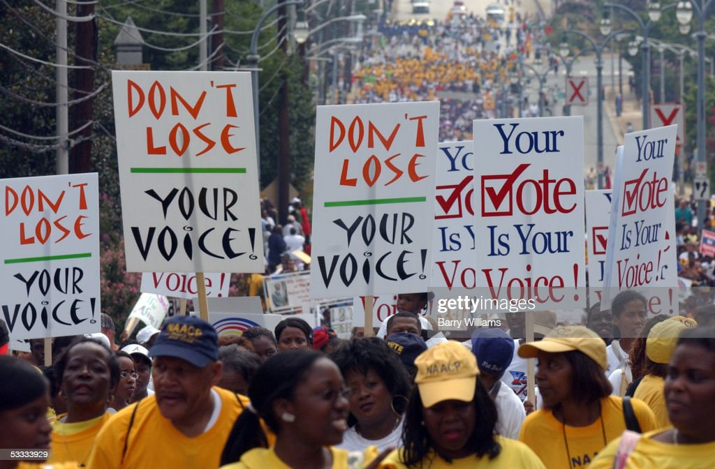 """""""Keep the Vote Alive!"""" March Commemorates Civil Rights Act : News Photo"""