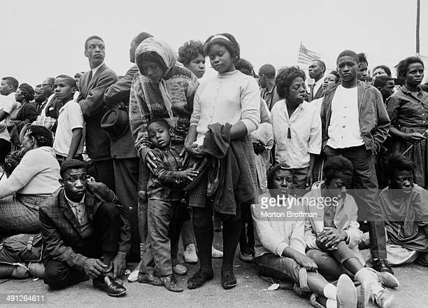 Marchers in Montgomery Alabama at the culmination of the Selma to Montgomery March 25th March 1965