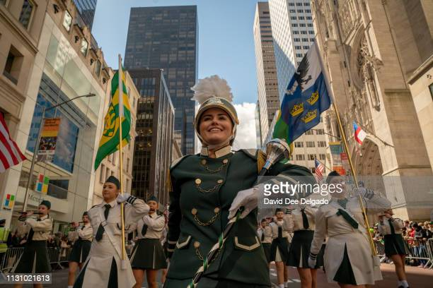 Marchers participate in the 2019 annual St Patrick's Day parade on March 16 2019 in New York City The New York City St Patrick's Day parade dating...