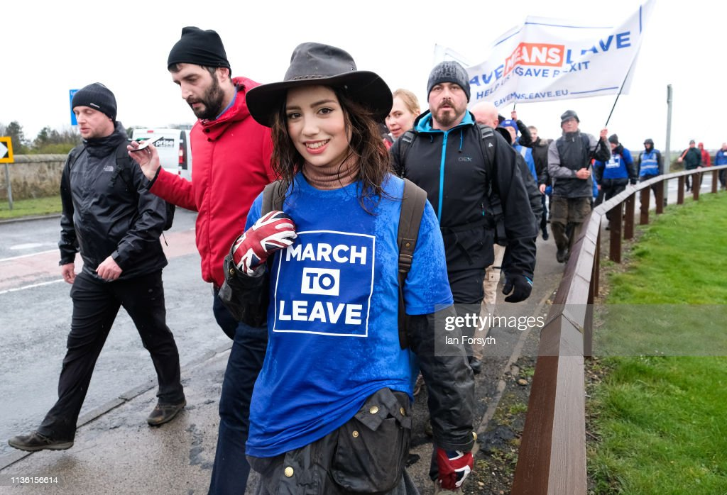 Nigel Farage Launches The Pro-Brexit March To Leave From Sunderland : News Photo
