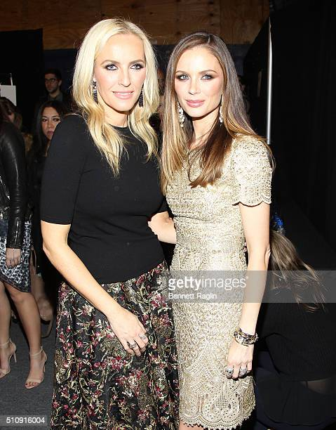 Marchesa designers Keren Craig and Georgina Chapman pose for a picture backstageat the Marchesa Fall 2016 New York Fashion Week at The Dock Skylight...