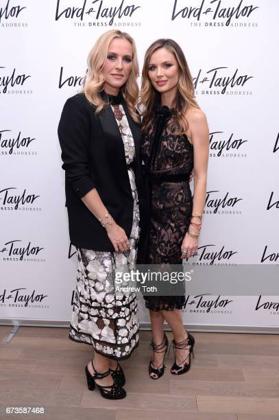 Marchesa founders Keren Craig and Georgina Chapman attend Lord Taylor x Harper's BAZAAR event on April 26 2017 in New York City