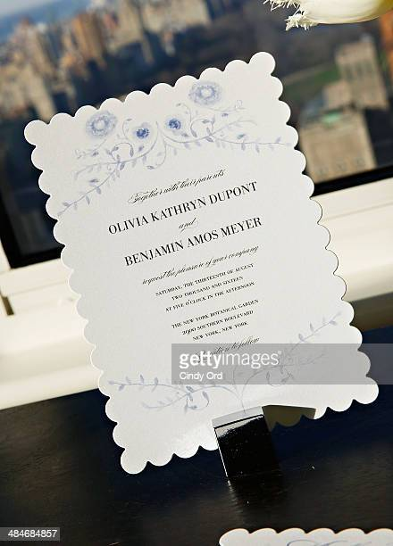 Marchesa gown inspired 'Exquisite Vines' bridal stationery on display as Wedding Paper Divas with Marchesa unveil their new bridal stationery...