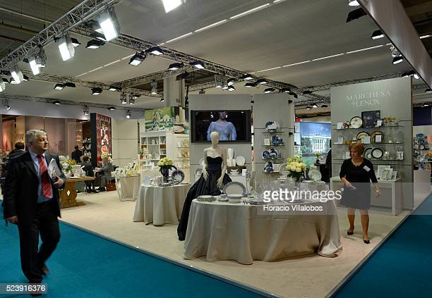 Marchesa Lenox stand in Ambiente 2014 in Frankfurt Germany 10 February 2014 Ambiente is the leading international trade fair for products for the...