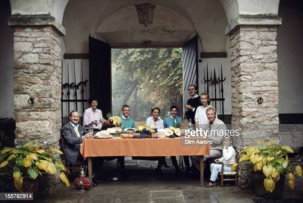 Marchese Gian Giacomo Chiavari his wife Enrica nephew Fabiano sisterinlew Elena his sons Gian Luca and Gian Antioco niece Violantina his brother Gian...