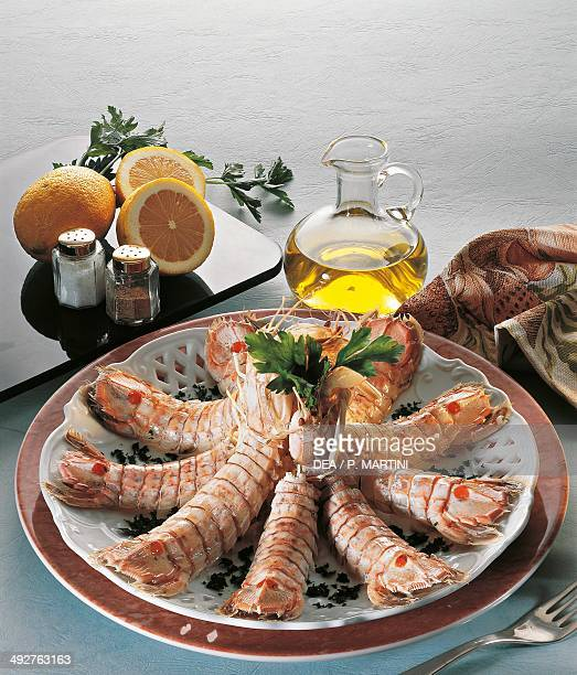 Marchestyle mantis shrimp with lemon and parsley