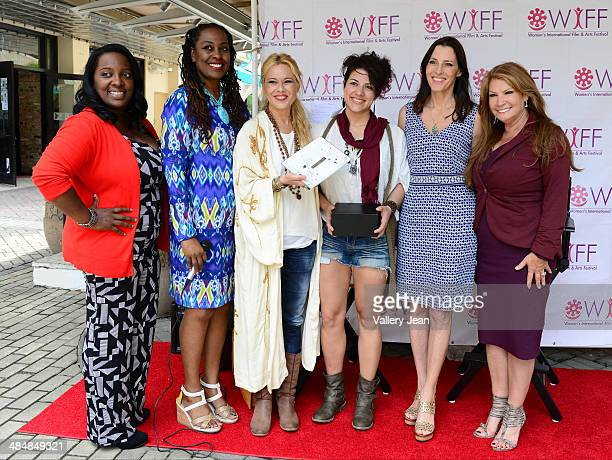 Marchet McWhite Yvonne Mccormack Lyons Mercedes Ortega Vega Pamela Hersch Cecilia Peck and Michele Gillen attend the Women's International Film...