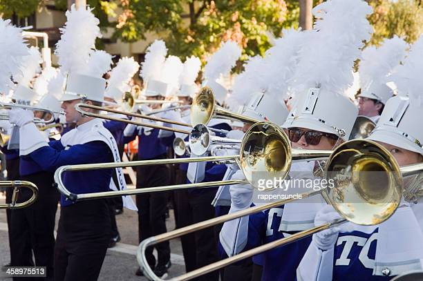 marching band brass section - pasadena stock pictures, royalty-free photos & images