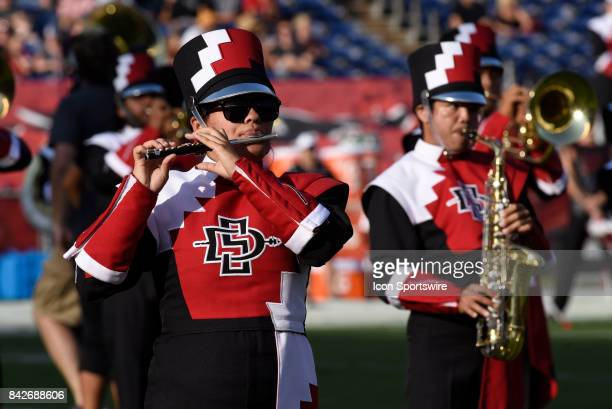 Marching Band during the college football game between UC Davis Aggies and San Diego State University Aztecs on September 02 2017 at Qualcomm Stadium...