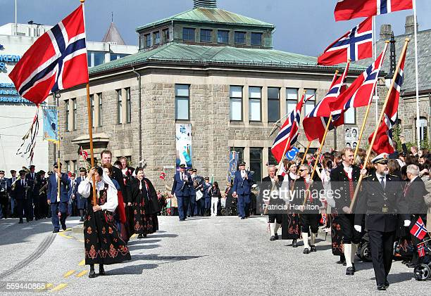 Marching band in Norway celebrating their national day