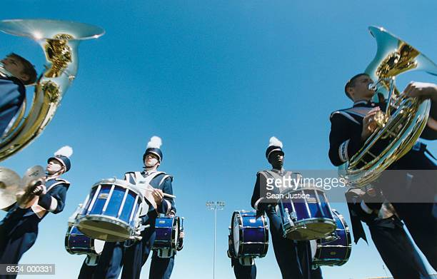 marching band - percussion instrument stock photos and pictures