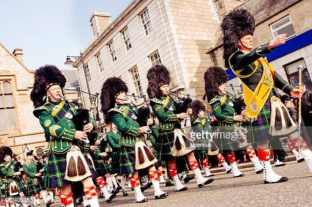 Marching Scottish Pipe Band