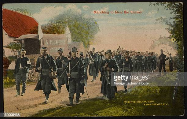 Marching to Meet the Enemy ca 1916
