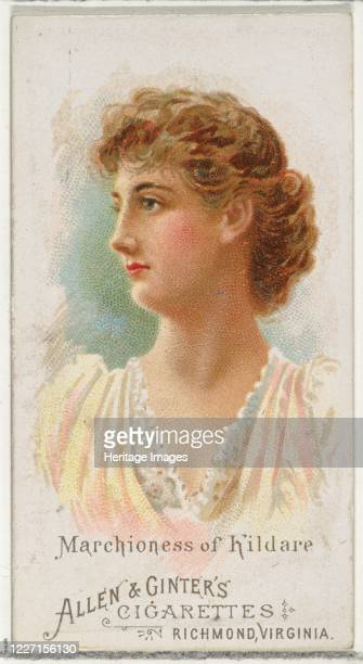Marchioness of Kildare from World's Beauties Series 1 for Allen Ginter Cigarettes 1888 Artist Allen Ginter