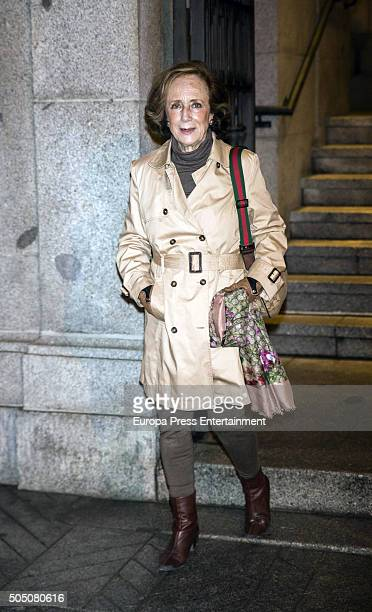 Marchioness of Tamarit Victoria Eugenia de Figueroa attend the funeral for Elena de Borbon Barucci at San Francisco de Borja church on January 14...