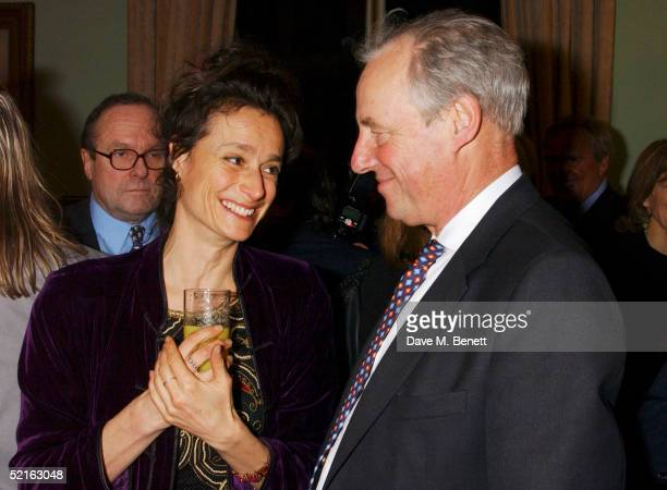 Marchioness of Worcester and MP Tim Yeo attend the book launch for historian Andrew Roberts new book Waterloo at the English Speaking union Club in...