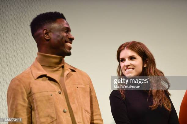 Marchánt Davis and Anna Kendrick attend the The Day Shall Come Premiere 2019 SXSW Conference and Festivals at Paramount Theatre on March 11 2019 in...