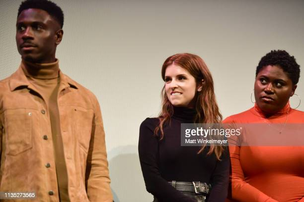 Marchánt Davis Anna Kendrick and Danielle Brooks attend the The Day Shall Come Premiere 2019 SXSW Conference and Festivals at Paramount Theatre on...