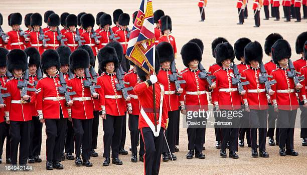 march-past, trooping the colour, london, england - bearskin hat stock pictures, royalty-free photos & images