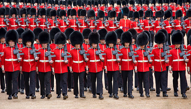 March-past, Trooping the Colour, London, England