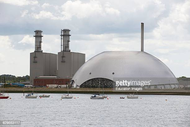 Marchwood Power Station and Energy Recovery Facility on Southampton Water UK
