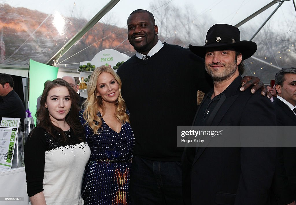 Marci Madison, Eloise DeJoria, Shaquille O'Neal and Robert Rodriguez attend Forbes' '30 Under 30' SXSW Private Party on March 11, 2013 in Austin, Texas.