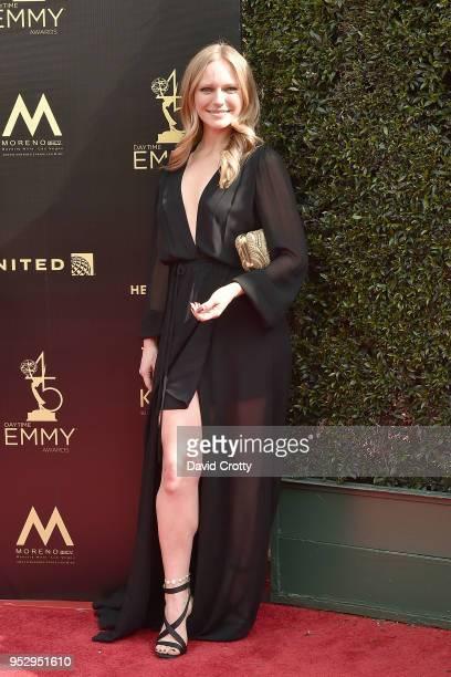 Marci Miller attends the 2018 Daytime Emmy Awards Arrivals at Pasadena Civic Auditorium on April 29 2018 in Pasadena California