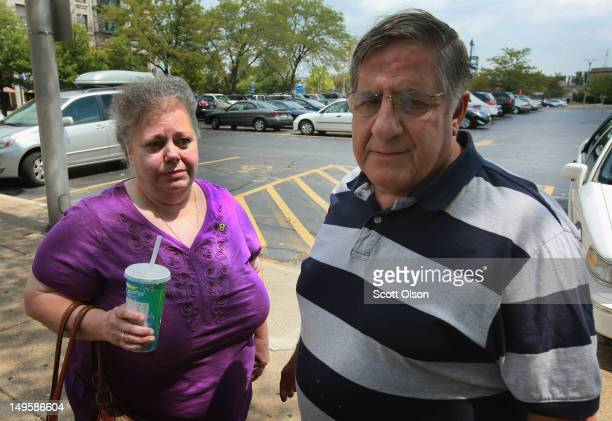 Marcia and Henry Savio parents of Kathleen Savio the murdered third wife of Drew Peterson return to court following a recess in Peterson's murder...