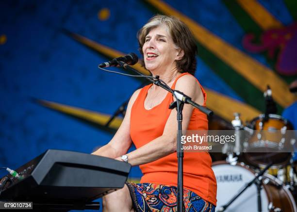 Marcia Ball performs at the New Orleans Jazz Heritage Festival at Fair Grounds Race Course on May 4 2017 in New Orleans Louisiana