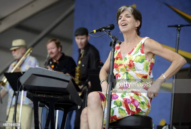Marcia Ball performs during Day 4 of the 2014 New Orleans Jazz Heritage Festival at Fair Grounds Race Course on May 1 2014 in New Orleans Louisiana