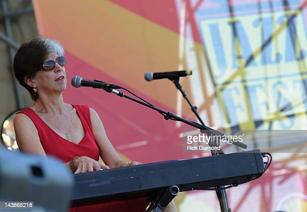 Marcia Ball performs during the 2012 New Orleans Jazz Heritage Festival Day 5 at the Fair Grounds Race Course on May 4 2012 in New Orleans Louisiana